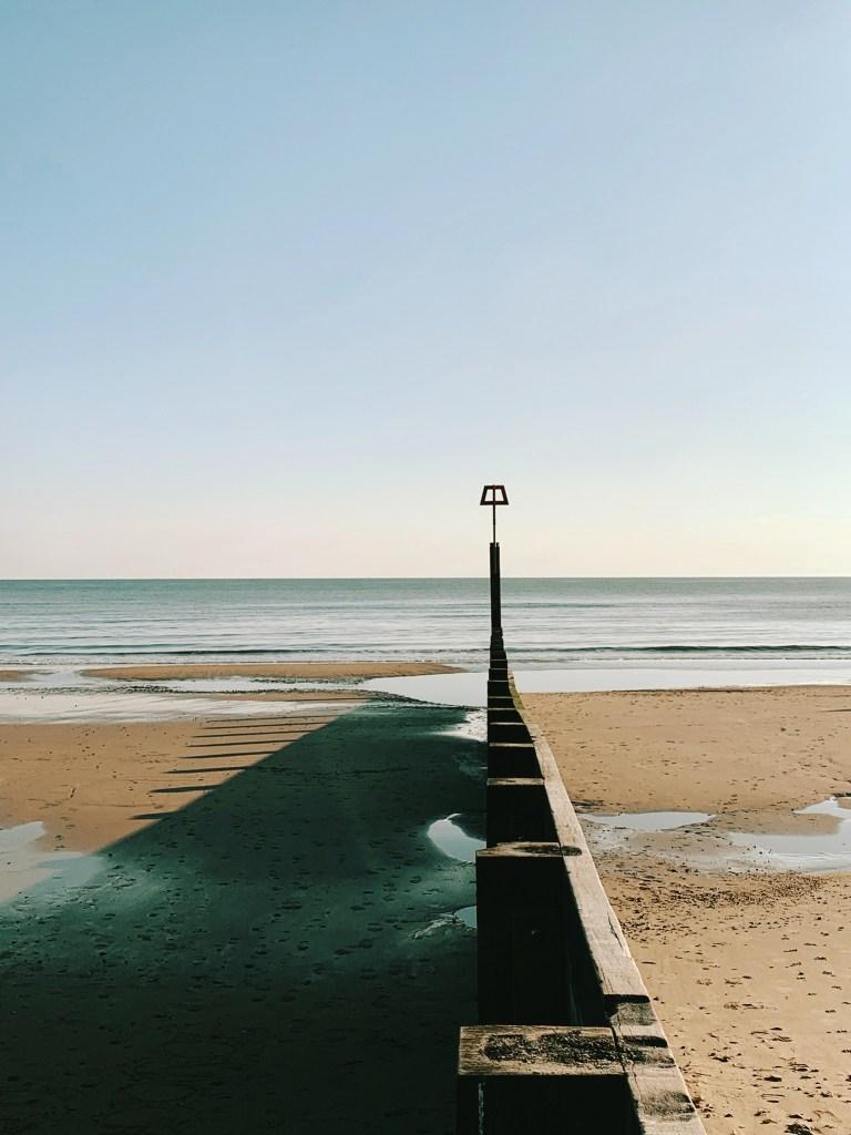 Bournemouth Beach, sunny January day.