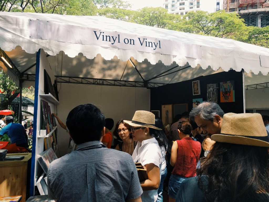 No vinyl though. Art in the Park 2016