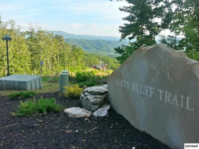 Corner of Misty Bluff Trail in The Summit on Bluff Mountain