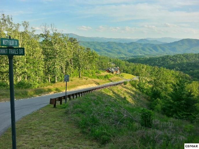 View from Misty Bluff Trail in The Summit on Bluff Mountain - Pigeon Forge, Tennessee