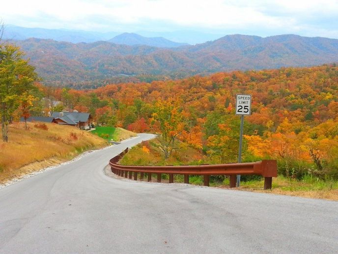 Fall in the Smoky Mountains. The Summit on Bluff Mountain