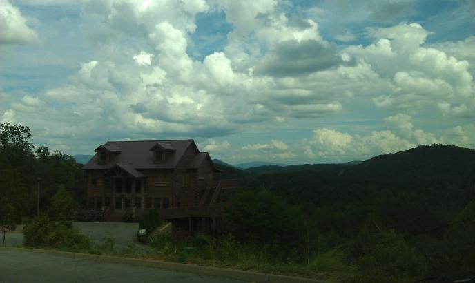 View from Wild Briar. Luxury cabin resort off Upper Middle Creek Road in Pigeon Forge