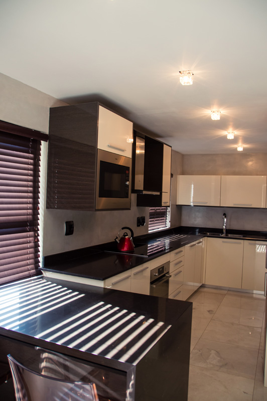 kitchen remodel, kitchen design, dining room, cement, blinds