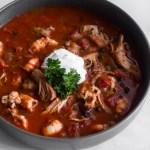 Spicy Black Bean Chicken & Shrimp Stew
