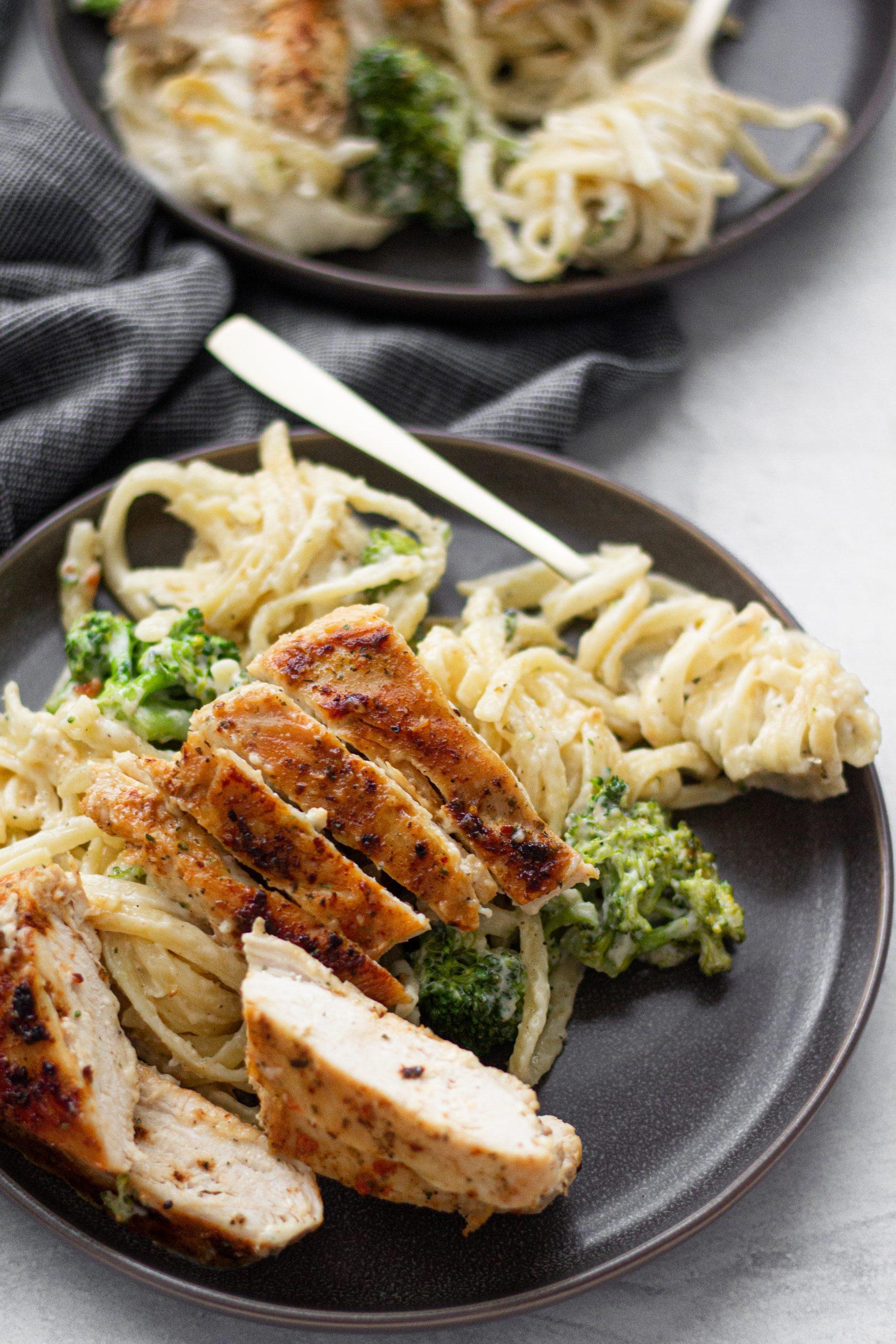 Chicken & Broccoli Linguine Alfredo