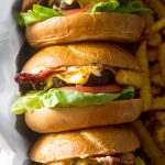 Air Fryer Bacon Cheeseburger