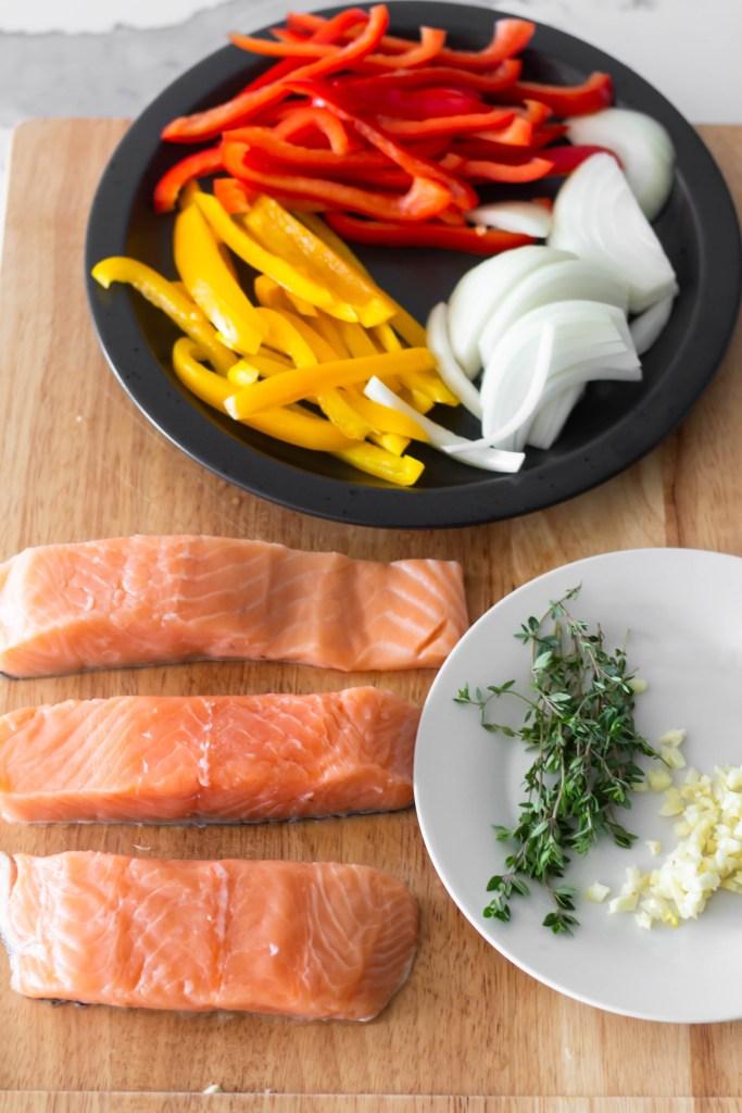 Brown stew salmon