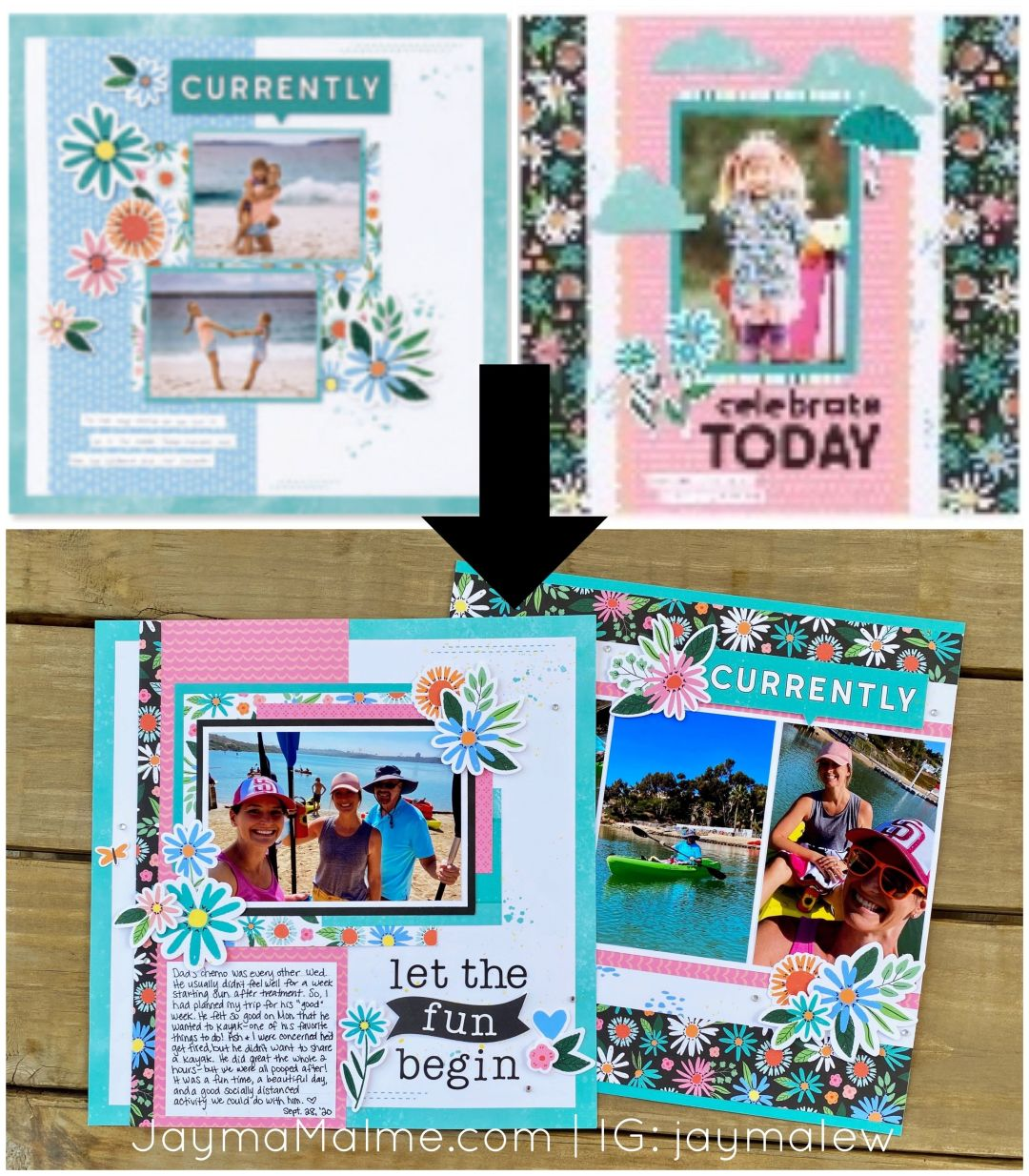 Stepped-Up Double Scrapbook Layout | Love Your Stash Process Video