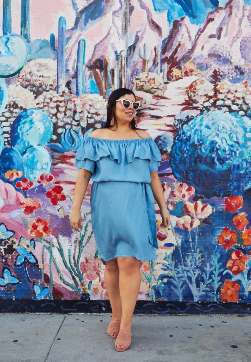 Plus size Rachel Roy chambray dress from CoEdition