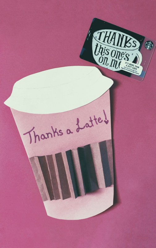 Thanks a latte gifts for teachers, coffee lovers
