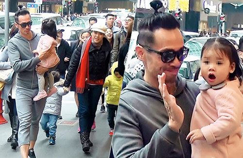 Moses Chan's Daughter Waves to Reporters