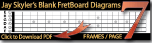 Free Blank Guitar Fretboard Diagrams US Letter and Int
