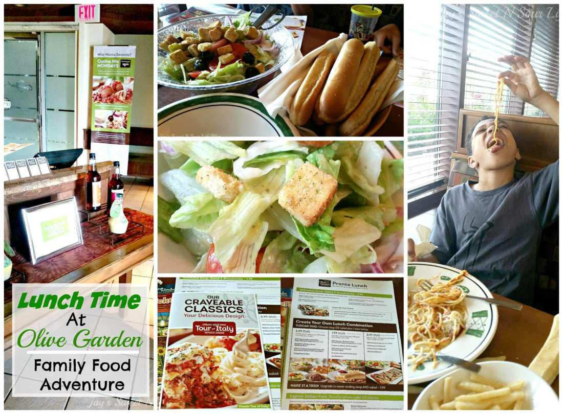 Lunch Time At Olive Garden – Family Food Adventure