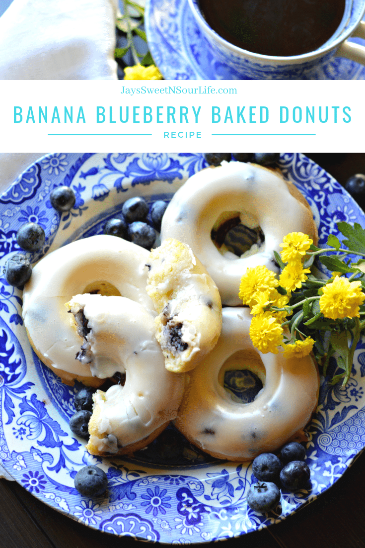 Banana Blueberry Baked Donuts Recipe. This light and tasty Banana Blueberry Baked Donuts recipe is made with fresh blueberries and ripe banana's. Try my yeast free donut recipe today.
