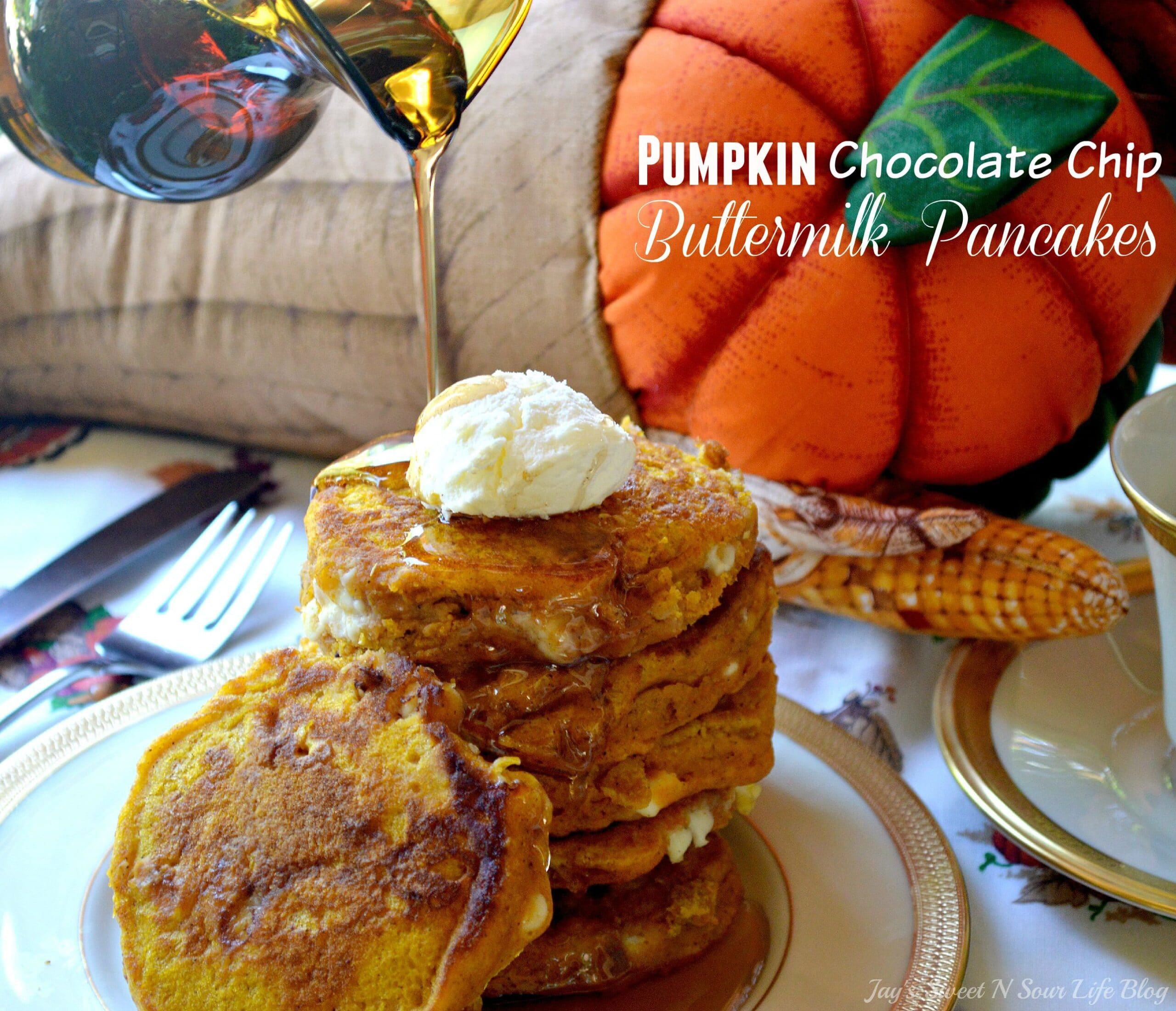 . Pumpkin Chocolate Chip Buttermilk PancakesNothing says fall like my Pumpkin Chocolate Chip Buttermilk Pancakes. These from-scratch pumpkin pancakes are made with real pumpkins and buttermilk making them super moist and fluffy, they are perfect for fall mornings.