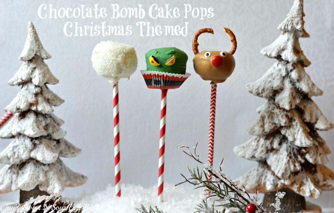 Chocolate Bomb Cake Pops – Christmas Themed