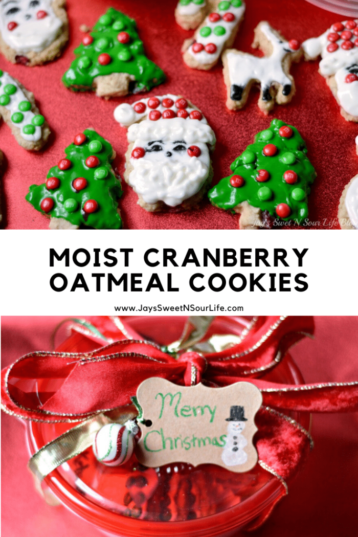 Bake up something delicious this holiday, my Moist Cranberry Oatmeal Cookies are a crowd-pleaser and perfect for your annual Christmas cookie exchange.