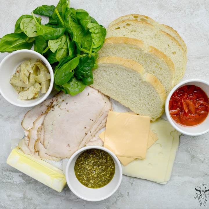 Turkey Pesto Grilled Cheese Ingredients. If you are looking for that restaurantquality bistro sandwich, look no further. Bring the bistro home when you try my Turkey Pesto Grilled Cheese.