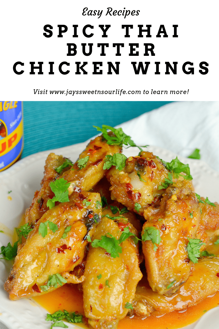 Spicy Thai Butter Chicken Wings (1). Perfect for any night, these Thai inspired Spicy Buttery Chicken Wings are so easy to make and oh so delicious.