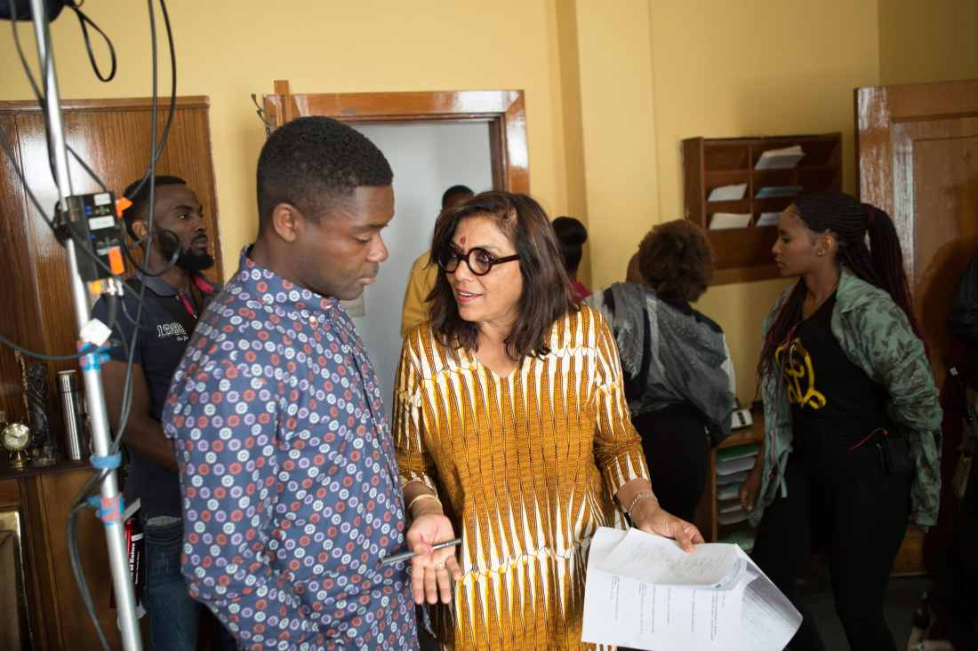 Director Mira Nair on the set of Disney's QUEEN OF KATWE with David Oyelowo The film is based on a true story of a young girl from the streets of rural Uganda whose world changes when she is introduced to the game of chess, the film also star Oscar (TM) winner Lupita Nyong'o.