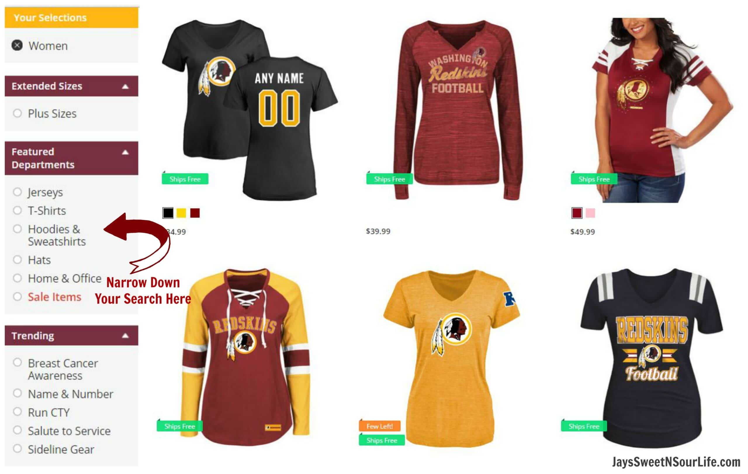 competitive price b7536 79713 Go Redskins! My Everyday Style - Jays Sweet N Sour Life