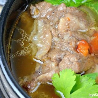 Pressure Cooker Filipino Oxtail Soup