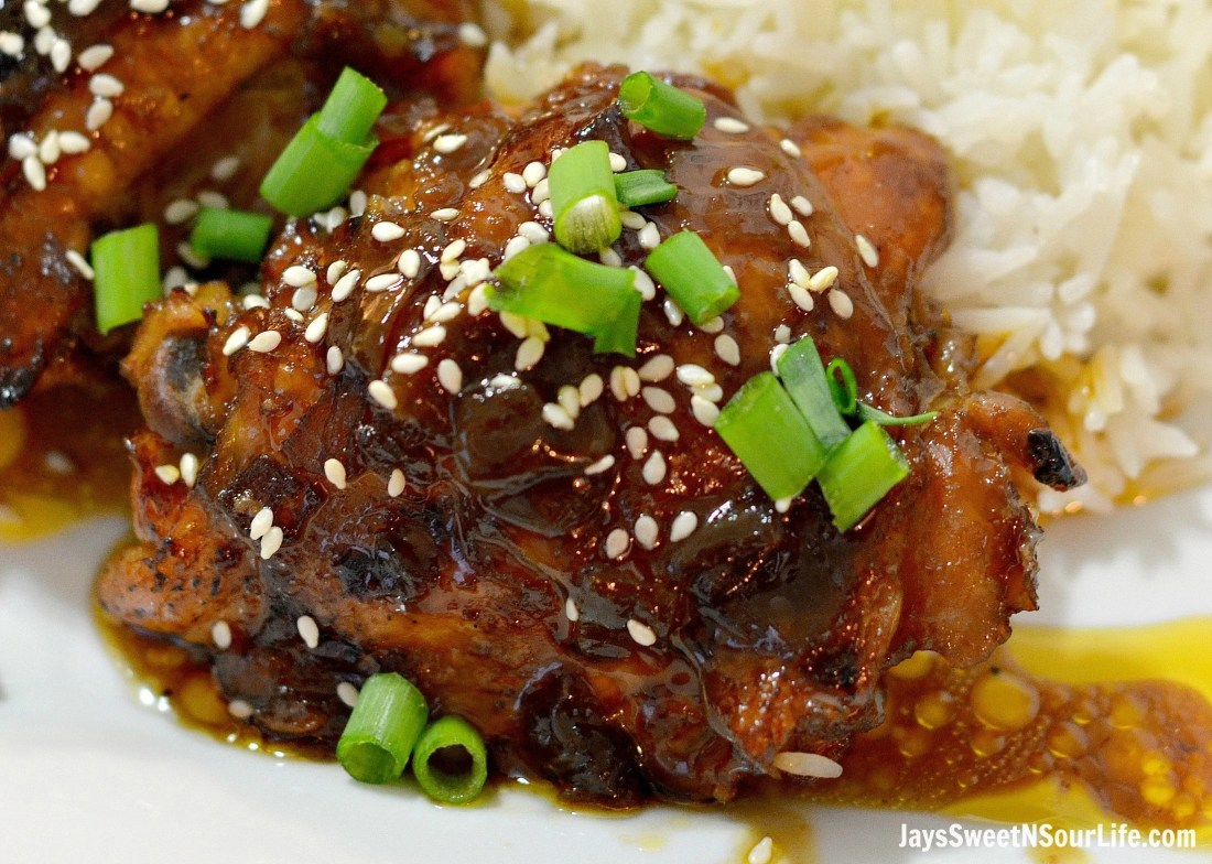 Honey Sesame Chicken Close Up. Try my easy to make Pressure Cooker Honey Sesame Chicken recipe. The chicken falls off the bone and the meat is so tender and juicy.