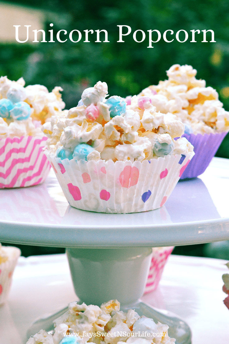 Unicorn Popcorn. Bake up some special sweets for your favorite charities. My Unicorn Popcorn is always a hit at our bake sales. It's easy to make and the kids love it.