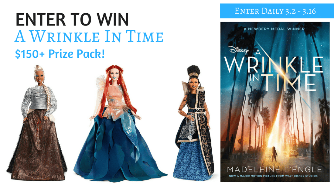 Enter to win in our A Wrinkle In Time Group Giveaway. Win some amazing prizes.