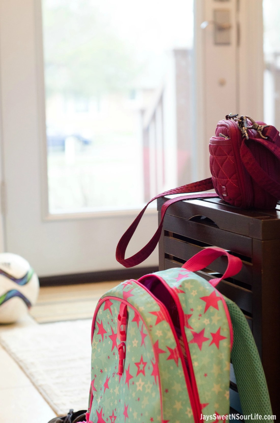 5 tips for the on the go mom. Become more organized and designate specific areas of your home for grab and go items.