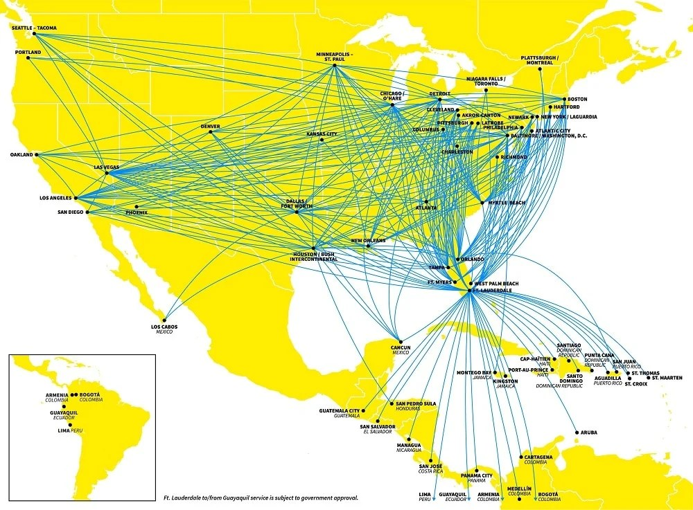 Fly more and pay less with Spirit Airlines bare fare. With many differnt destinations this Spirit Arlines Route Map depicts the many differnt destinations they currently offer.
