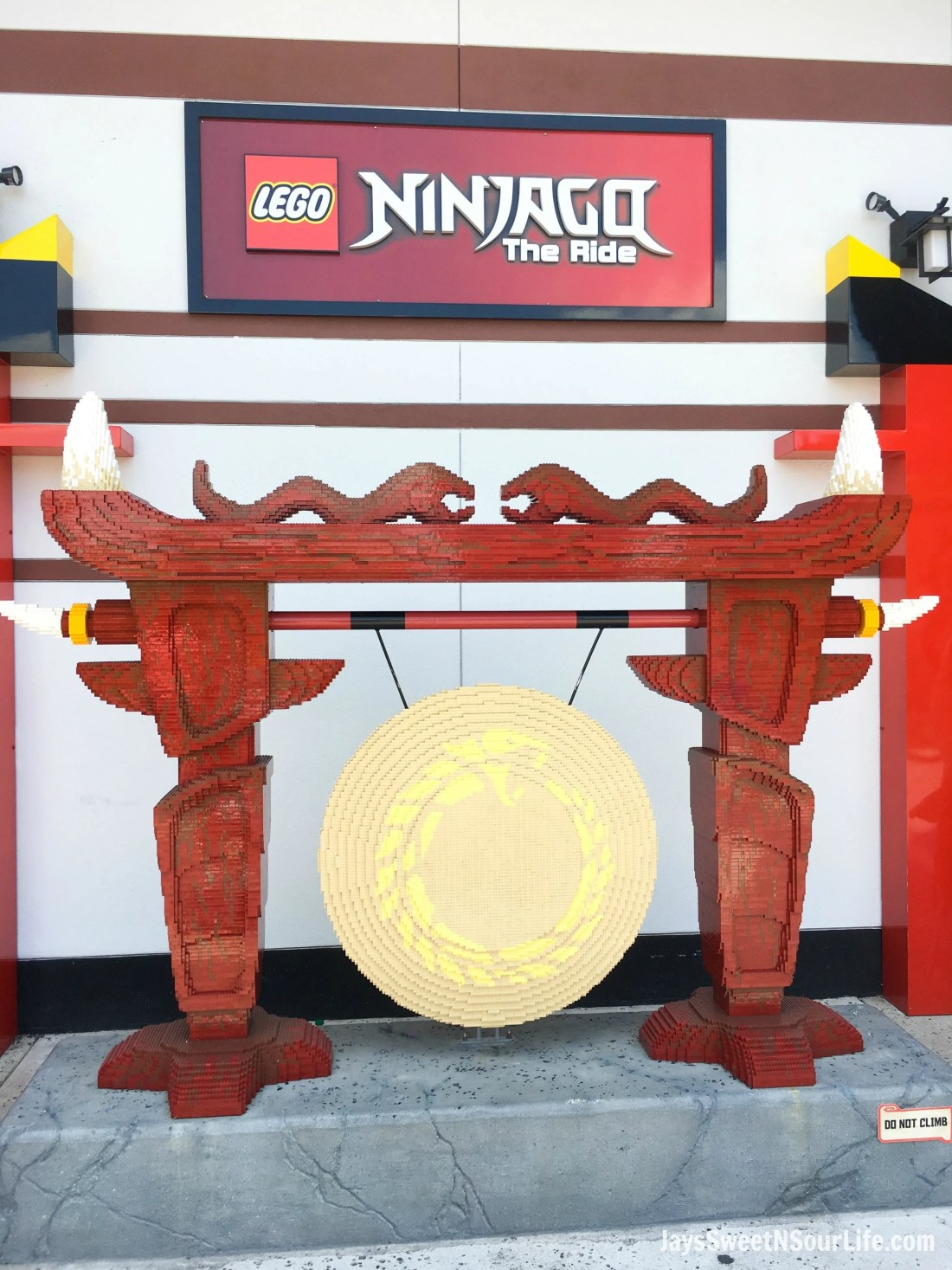 Legoland Florida Ninjago World Ride Entrance Closeup. Spend your summer building memories at Legoland in Florida. There is something for the whole family to enjoy at this wonderful Theme Park.