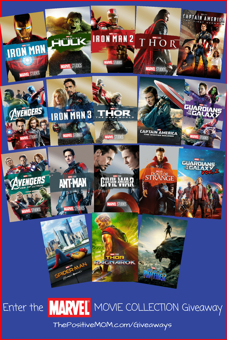 Enter for a chance to win the #MARVEL 18 Movie Collection Giveaway #InfinityWarEvent #InfinityWar #Giveaway #FREE #Win #Prize @MarvelStudios