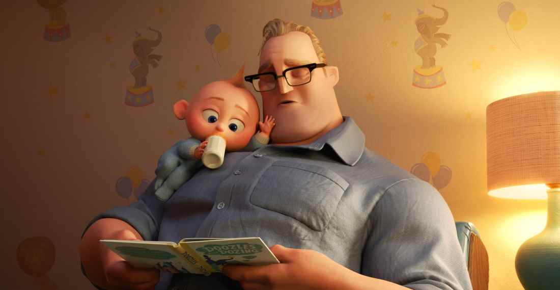 """In """"Incredibles 2,"""" Bob navigates life at home with the Parr kids while Helen leads a campaign to bring back Supers. But when baby Jack-Jack shows some surprising changes - including the appearance of a few unexpected super powers—Bob finds that it's challenging to keep up (and awake), even for Mr. Incredible."""
