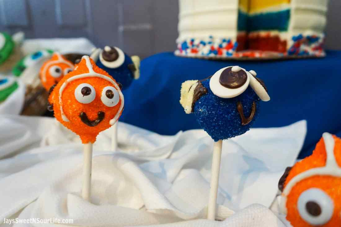 Pixar Fest Finding Nemo Cake Pops. Pixar Fest at Disneyland runs from April 13 through September 3rd.