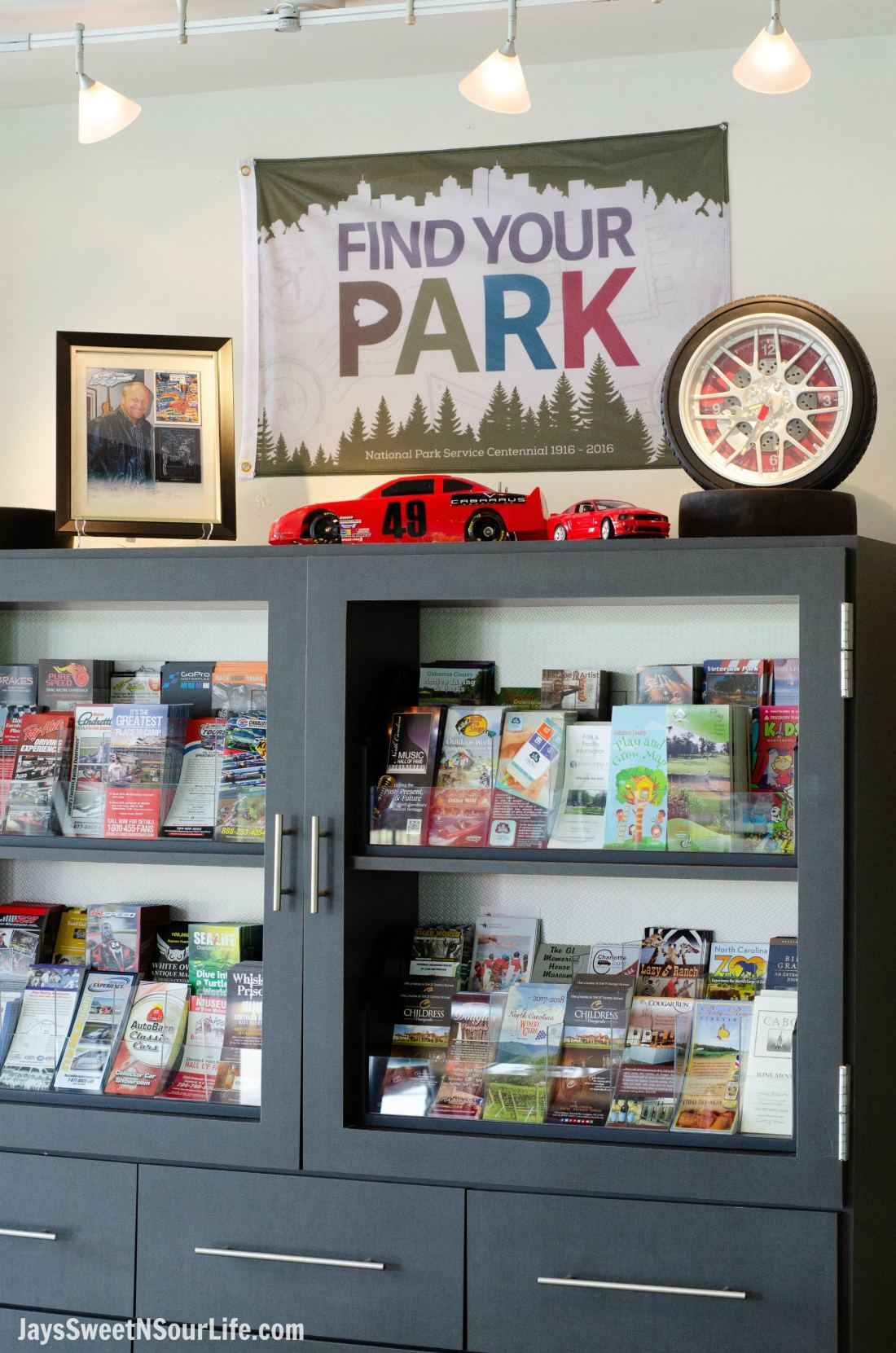 Visit Cabarrus County Vistor Center Find Your Park Display.A Large Families Adventure Guide To Cabarrus County - North Carolina - via JaysSweetNSourLife.com.