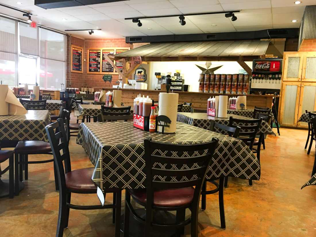 The Smoke Pit Inside The Restuarant. The Smoke Pit in Concord North Carolina Travel Review - via JaysSweetNSourLife.com.