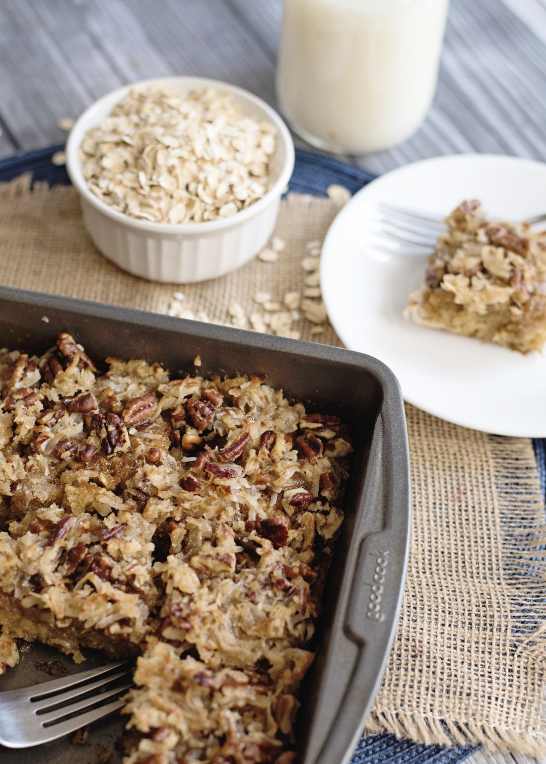 Bake up a delicious Oatmeal Cake with Pecan Frosting. Just like grandma used to make it, serve straight from the pan.