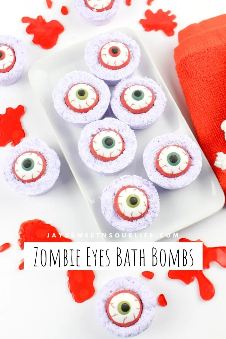 Create your very own DIY Zombie Eyes Bath Bombs. View step by step instructions with photos.