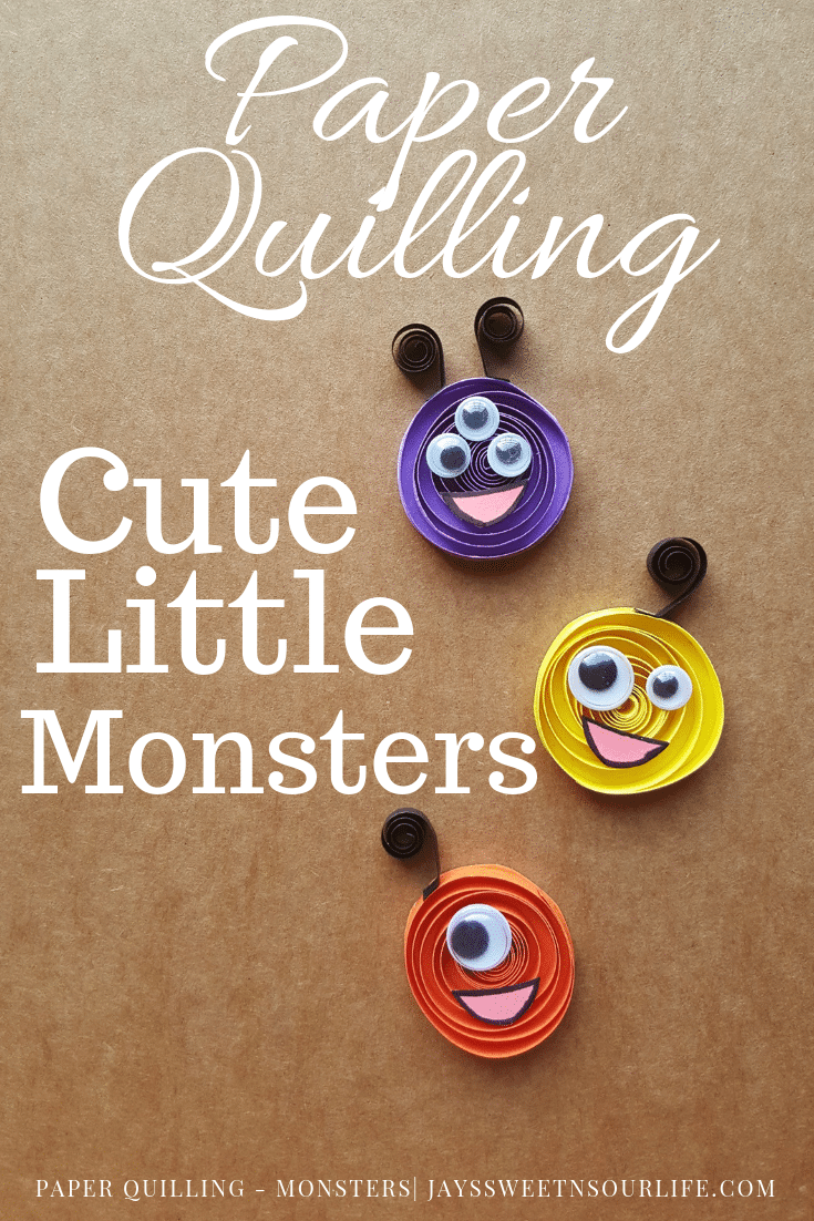 It's time to get crafty with this easy to follow Paper Quilling tutorial. Create some insanely cute little monsters with your family today. These are also a fun Halloween Monsters craft perfect for sharing with friends.
