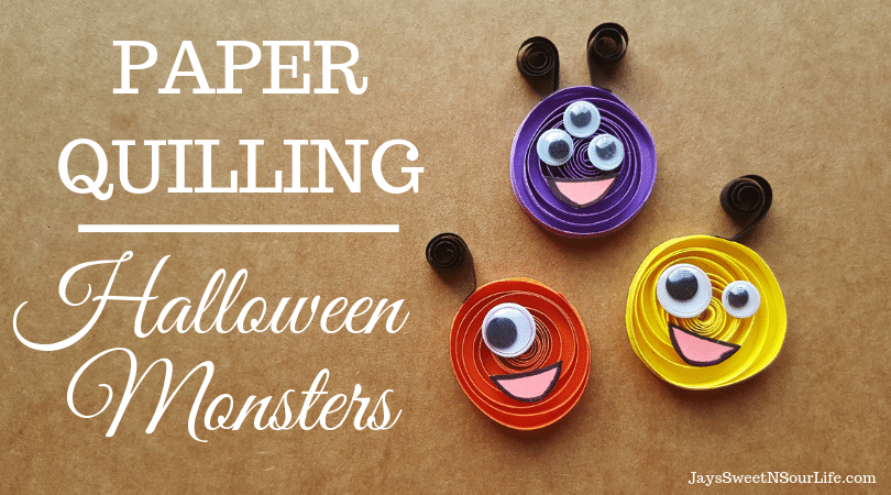 Paper Quilling Halloween Monsters. It's time to get crafty with this easy to follow Paper Quilling tutorial.