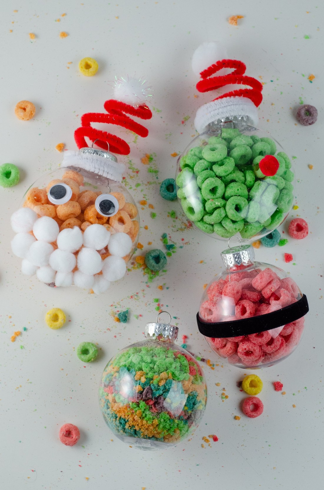 Christmas Ornament Ideas for Kids Using Cereal Together. It's time to let the kids be the boss for this new kid-friendly Christmas DIY. Rethink Cereal with somr my Christmas Ornament Ideas for Kids Using Cereal.