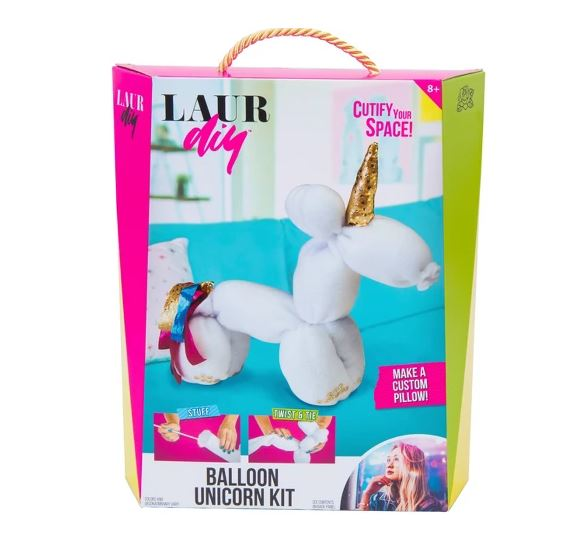 Now you can bring the LaurDIY style home with DIY kits like this Balloon Unicorn Kit!. Read about all the toys on my Holiday Gift Ideas For Kids Guide.