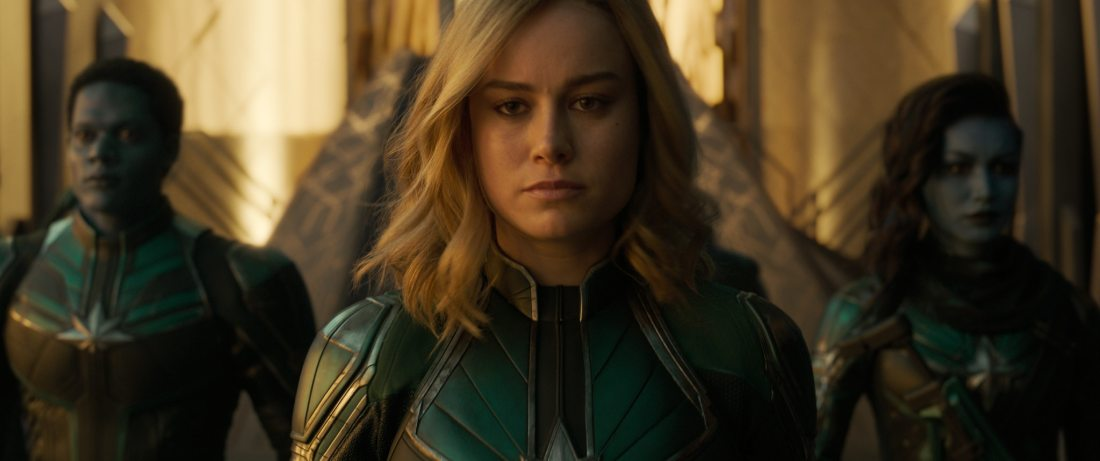 Marvel Studios Captain Marvel closeup Still. Set in the 1990s, Marvel Studios' CAPTAIN MARVEL is an all-new adventure from a previously unseen period in the history of the Marvel Cinematic Universe that follows the journey of Carol Danvers as she becomes one of the universe's most powerful heroes.