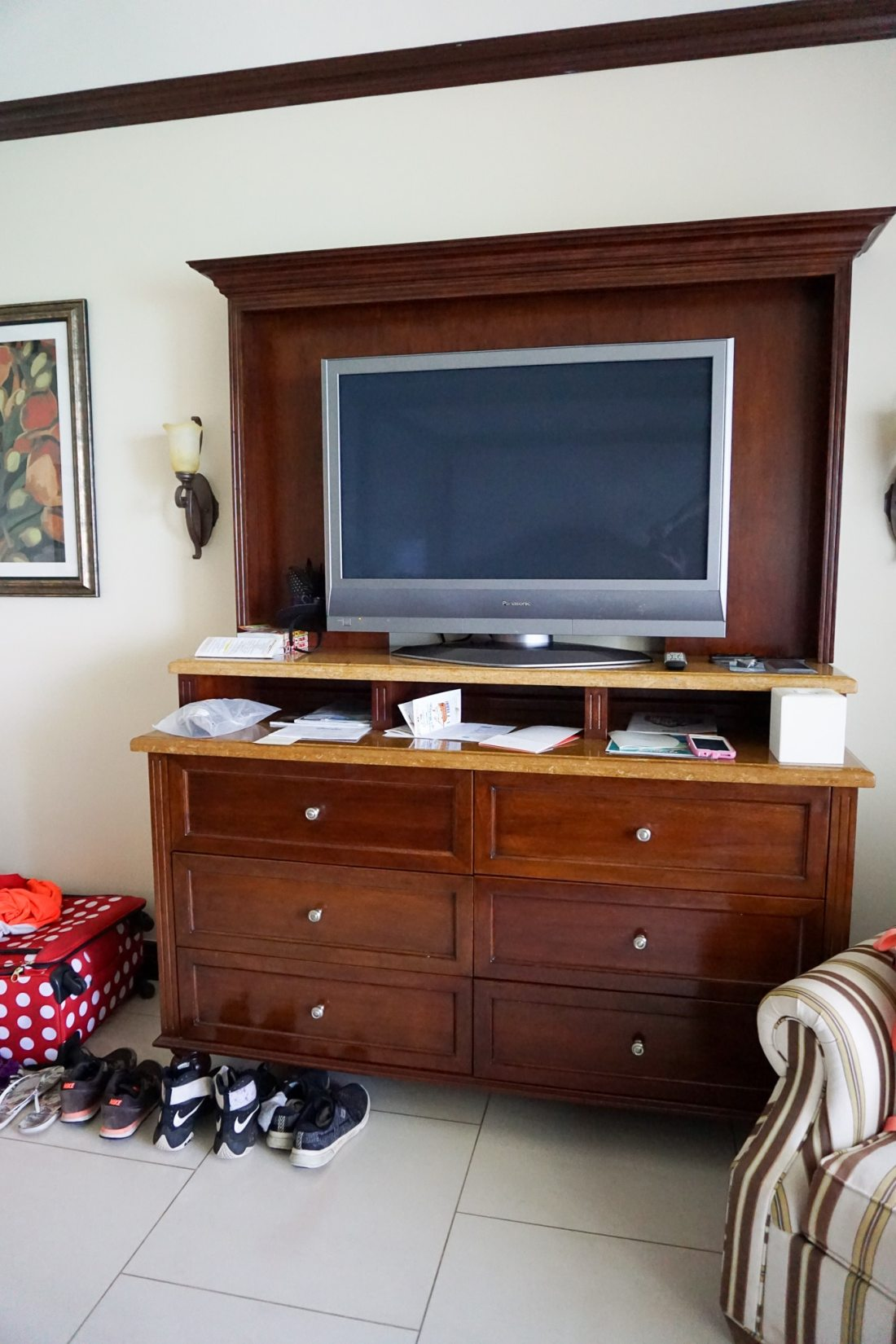 Oceanfront Family Suite Beaches Resorts in Turks and Caicos Entertainment Center. Paradise does exist, and it's only a plane ride away. Take a look inside our suite in this Oceanfront Family Suite Room Tour at Beaches Resorts in Turks and Caicos.
