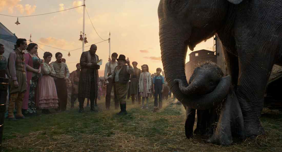 Dumbo Circus Family. Disney's live-action adventure Dumbo film explores where differences are celebrated, family is cherished and dreams take flight. In theaters March 29, 2019.