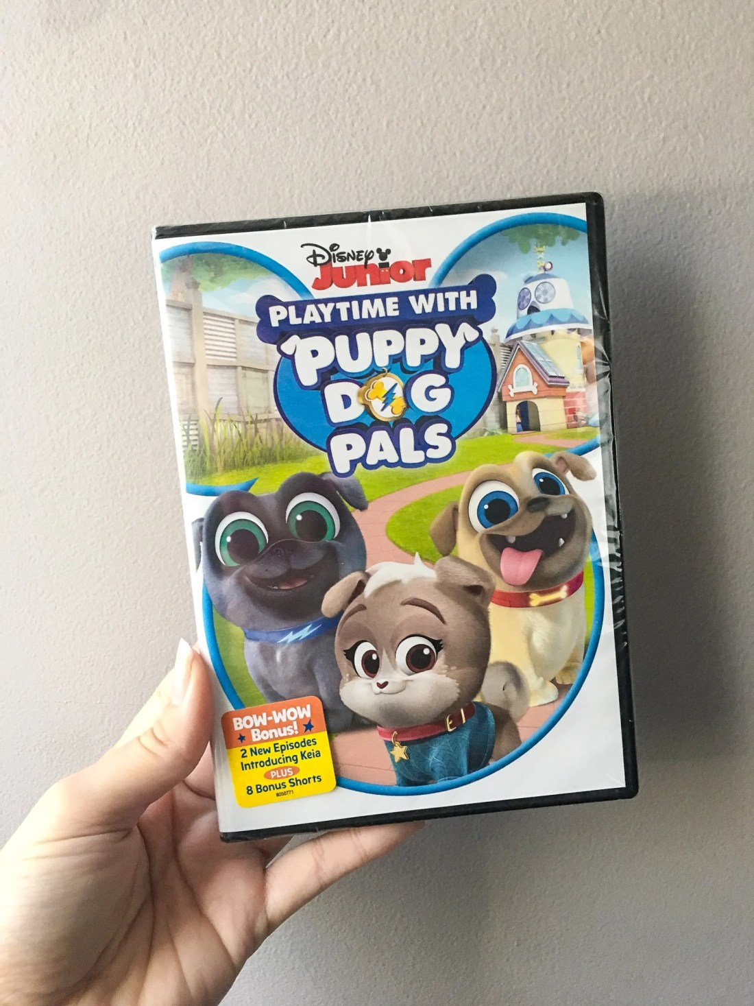 DIsney Junior Playtime With Puppy Dog Plays DVD Closeup. Adorable puppy brothers Bingo and Rolly are back! Join the doggy duo on amazing missions in their newest Playtime with Puppy Dog Pals DVD.