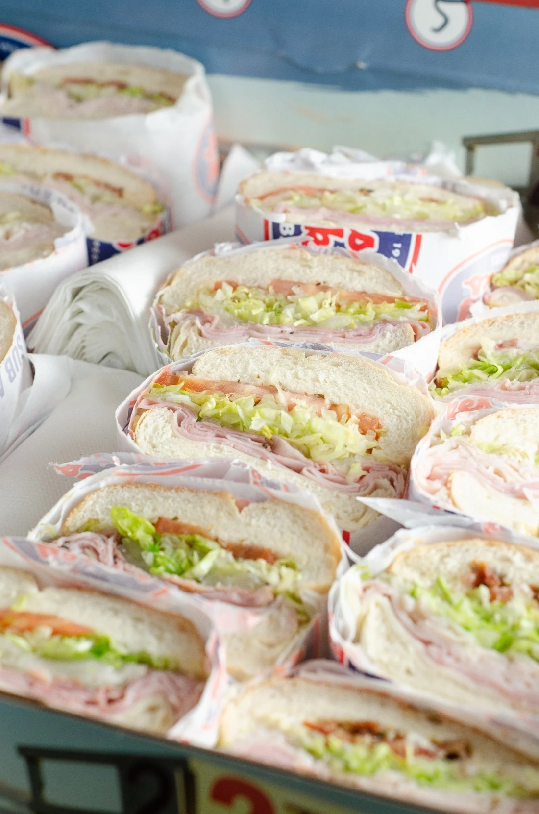 Jersey Mikes Catering Box Subs. Stop stressing about what everyone will be eating on the Big Game Day. Take advantage of some awesome No-Cook Easy Game Day Snack Idea's on the blog now.