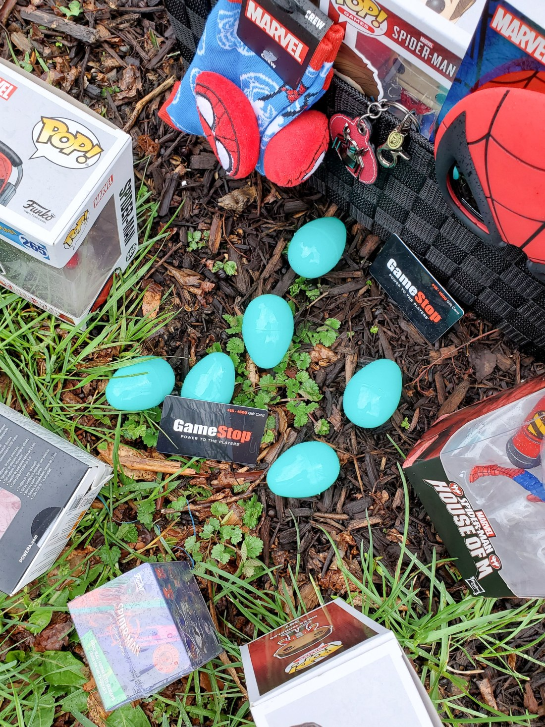 Spider-Man Easter Basket from GameStop. Build your very own Spider-Man themed Easter Basket with a little help from your One-Stop-Shop GameStop. Gamestop has everything you need to build the ultimate Easter Basket for your teenager.