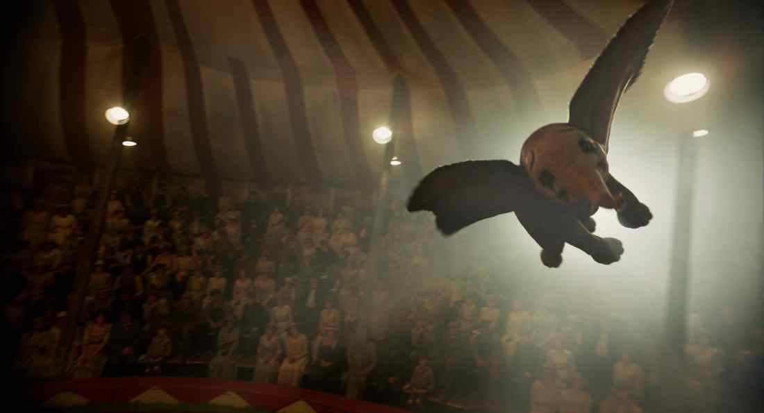 "n Disney's new live-action adventure ""Dumbo,"" a newborn elephant with giant ears discovers he can fly, and he's destined to be a star, which may or may not be a good thing. Directed by Tim Burton, ""Dumbo"" flies into theaters on March 29, 2019."